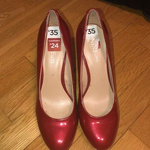 Nine & Co.  Red heels size 7.5